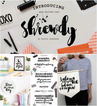 Shrewdy cyrillic font