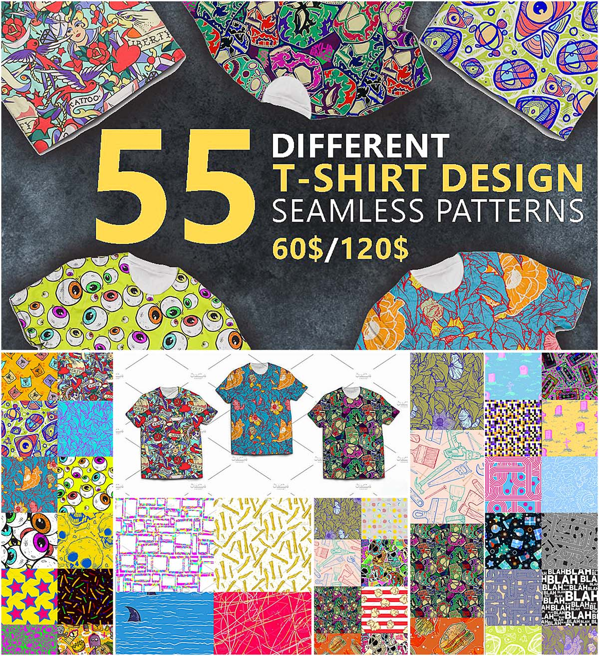 T-Shirt pattern design collection