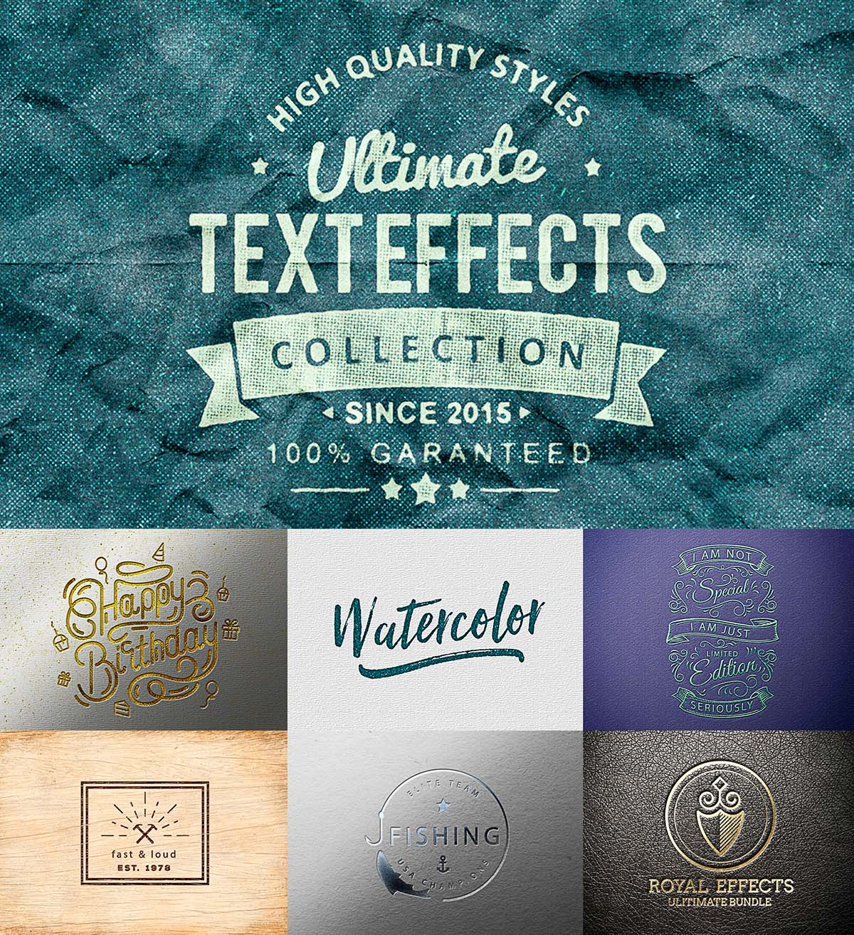 Ultimate text effect set