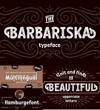 Barbariska font