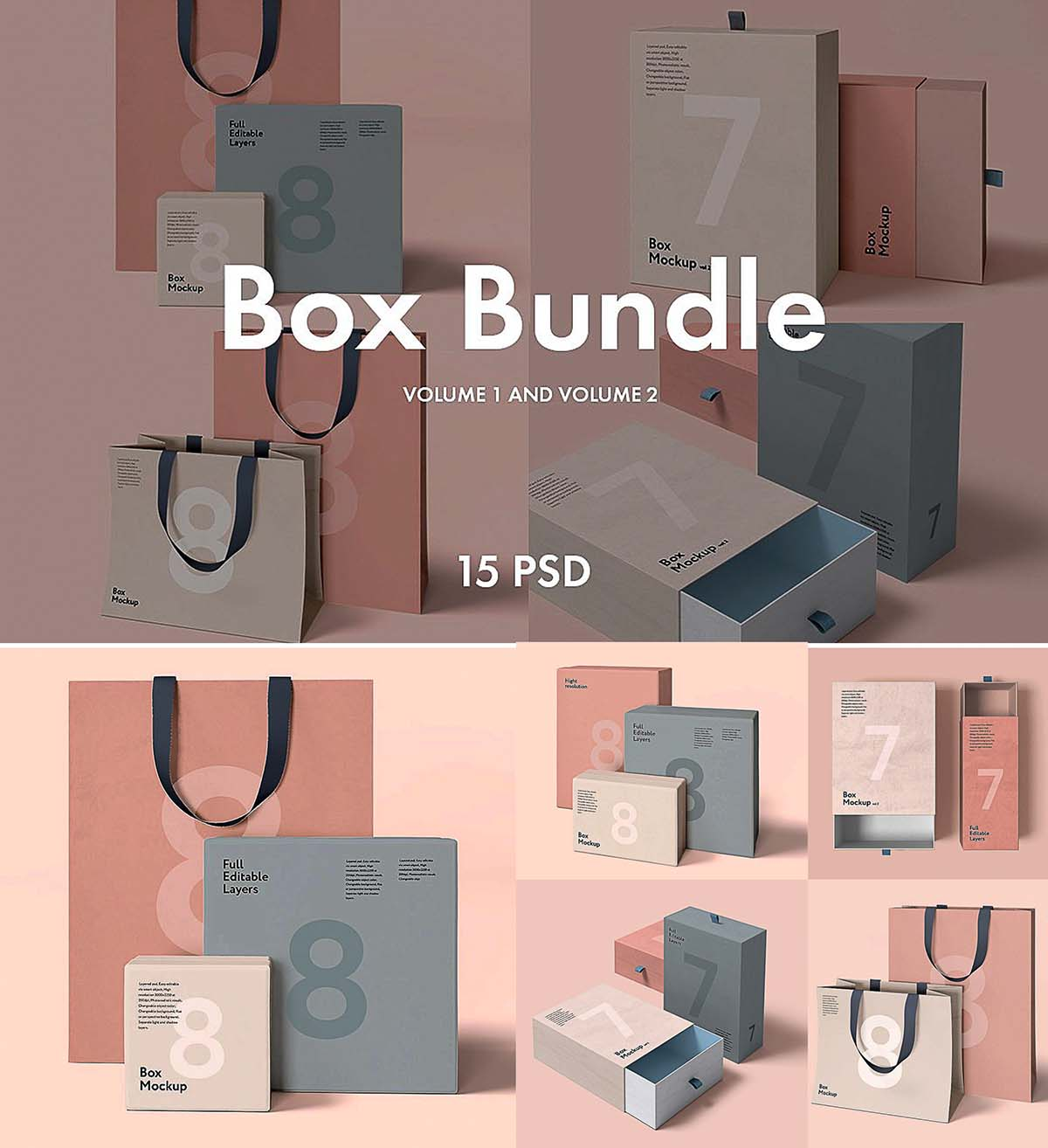Box and bag mockup