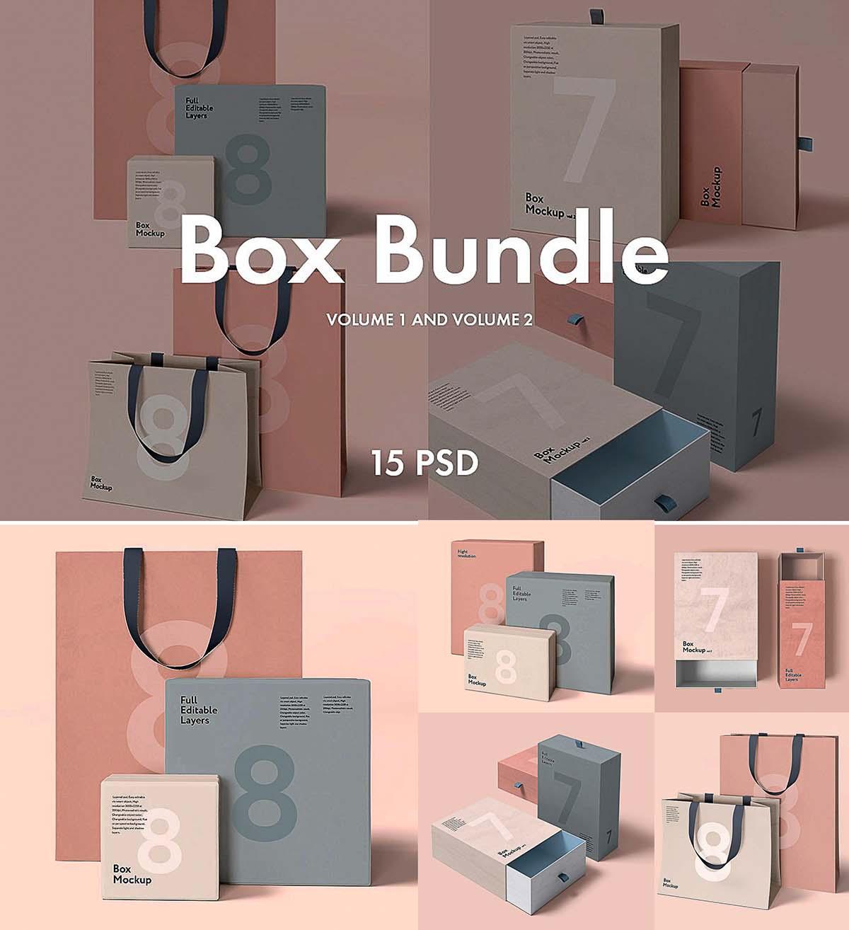Box and bag mockup