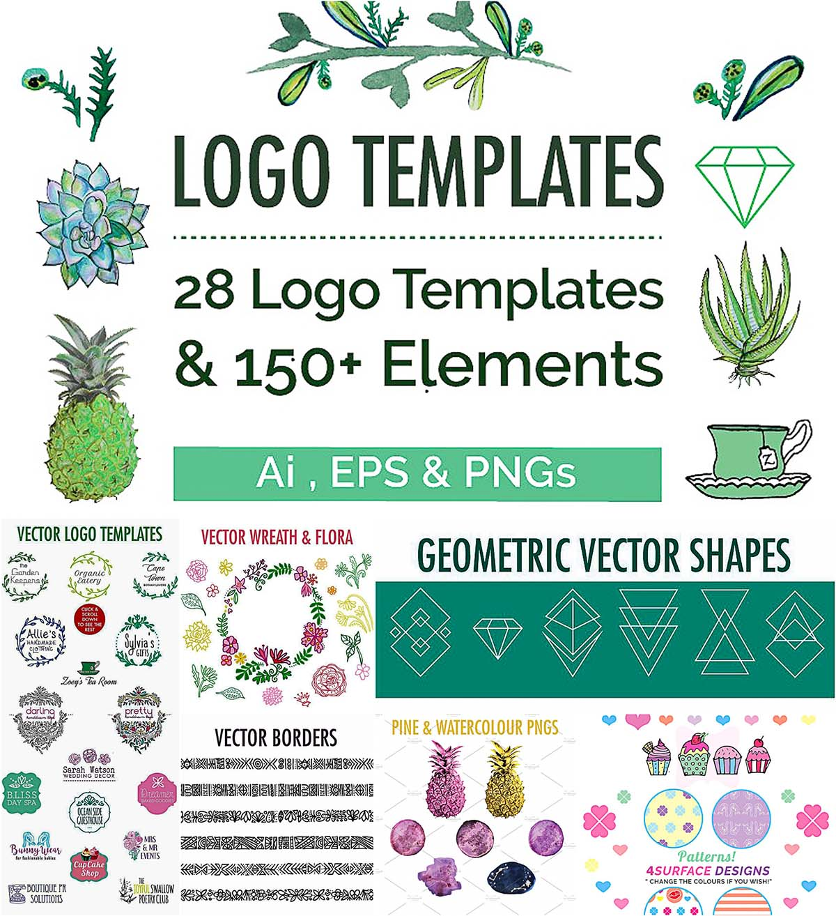Branding kit logo collection