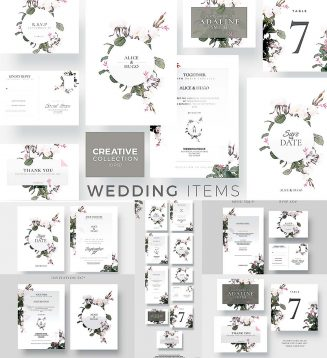 Creative wedding card collection