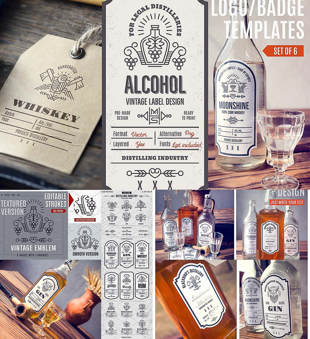 Distilling industry labels