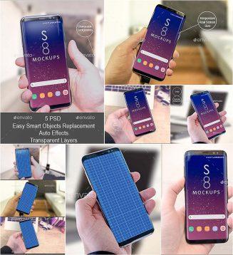 Samsung galaxy s8 mockup ui showcase