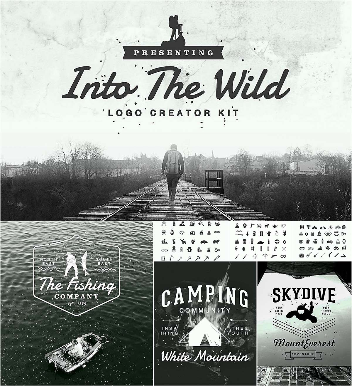 into the wild logo kit