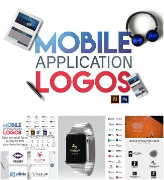 Mobile application logo pack