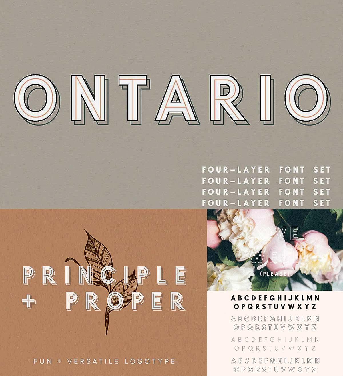 Ontario typeface