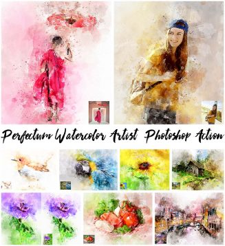 Perfectum watercolor action