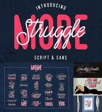 Struggle script sans font duo