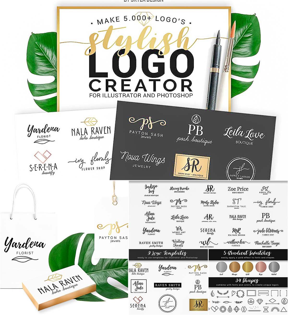 Stylish logo creation kit
