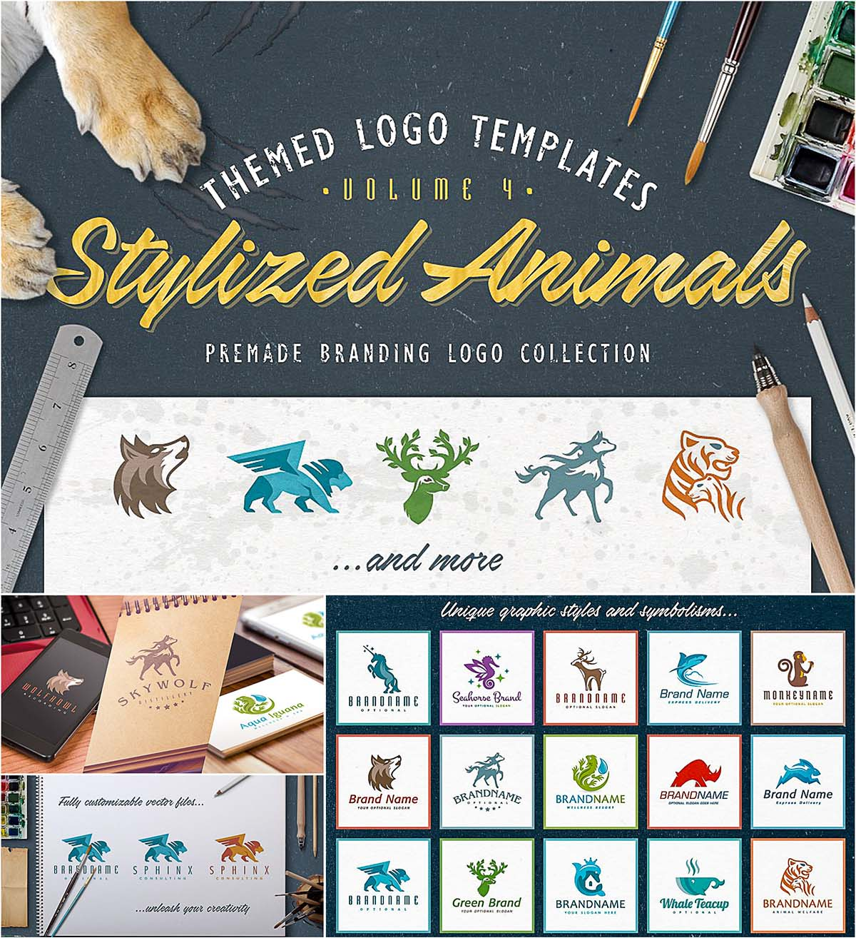logo stylezide animals set