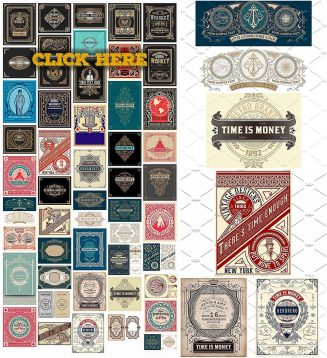 50 vintage ornate cards