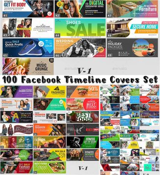 100 facebook cover templates