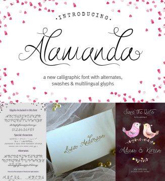 Alamanda calligraphy font