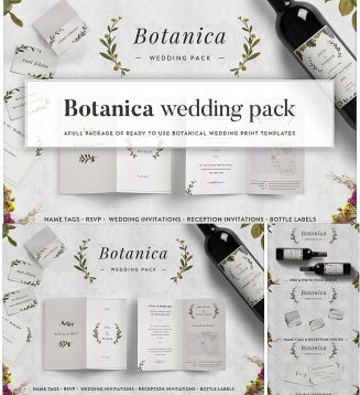 Botanical wedding pack