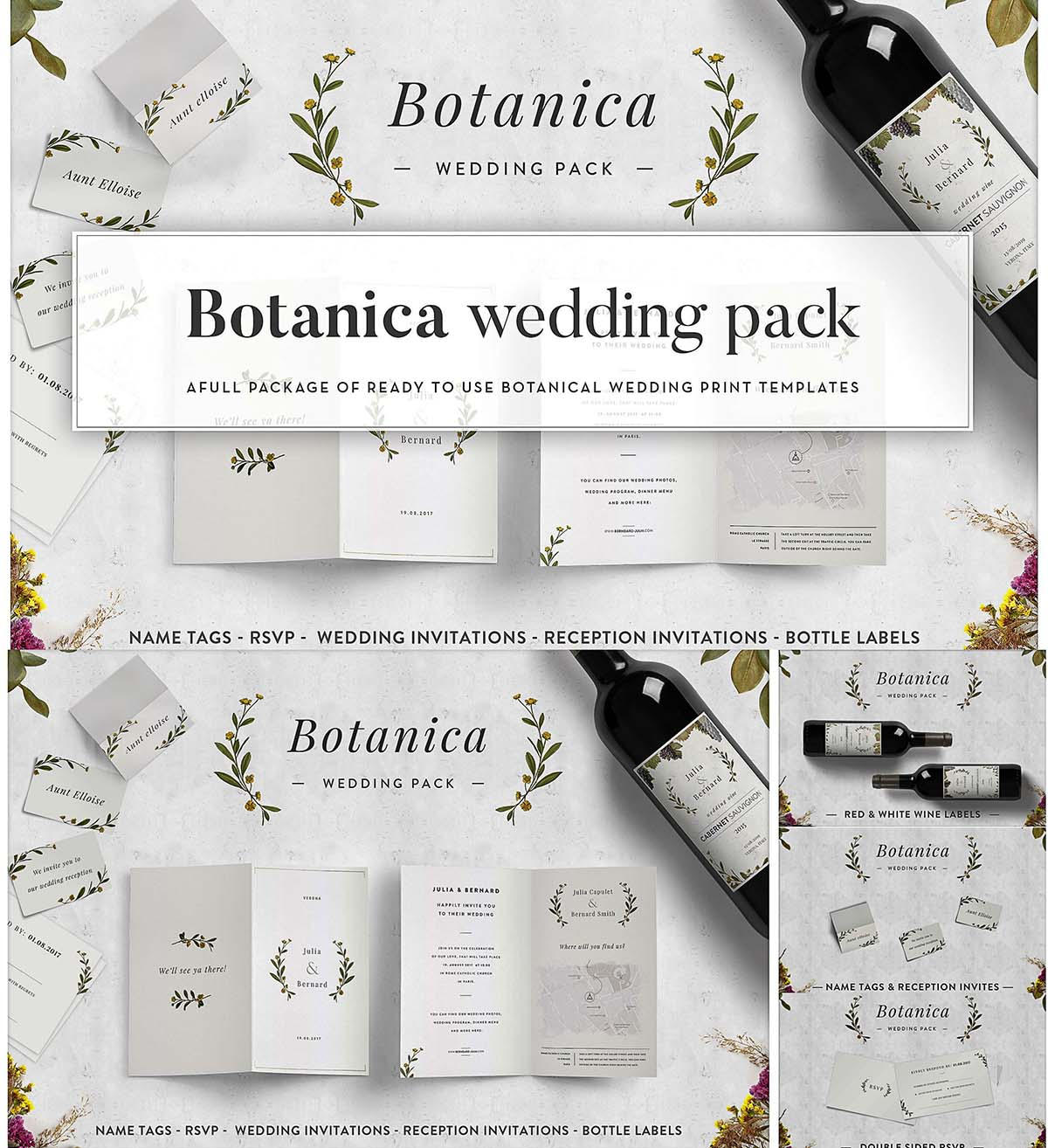Botanica Wedding Pack Print Free