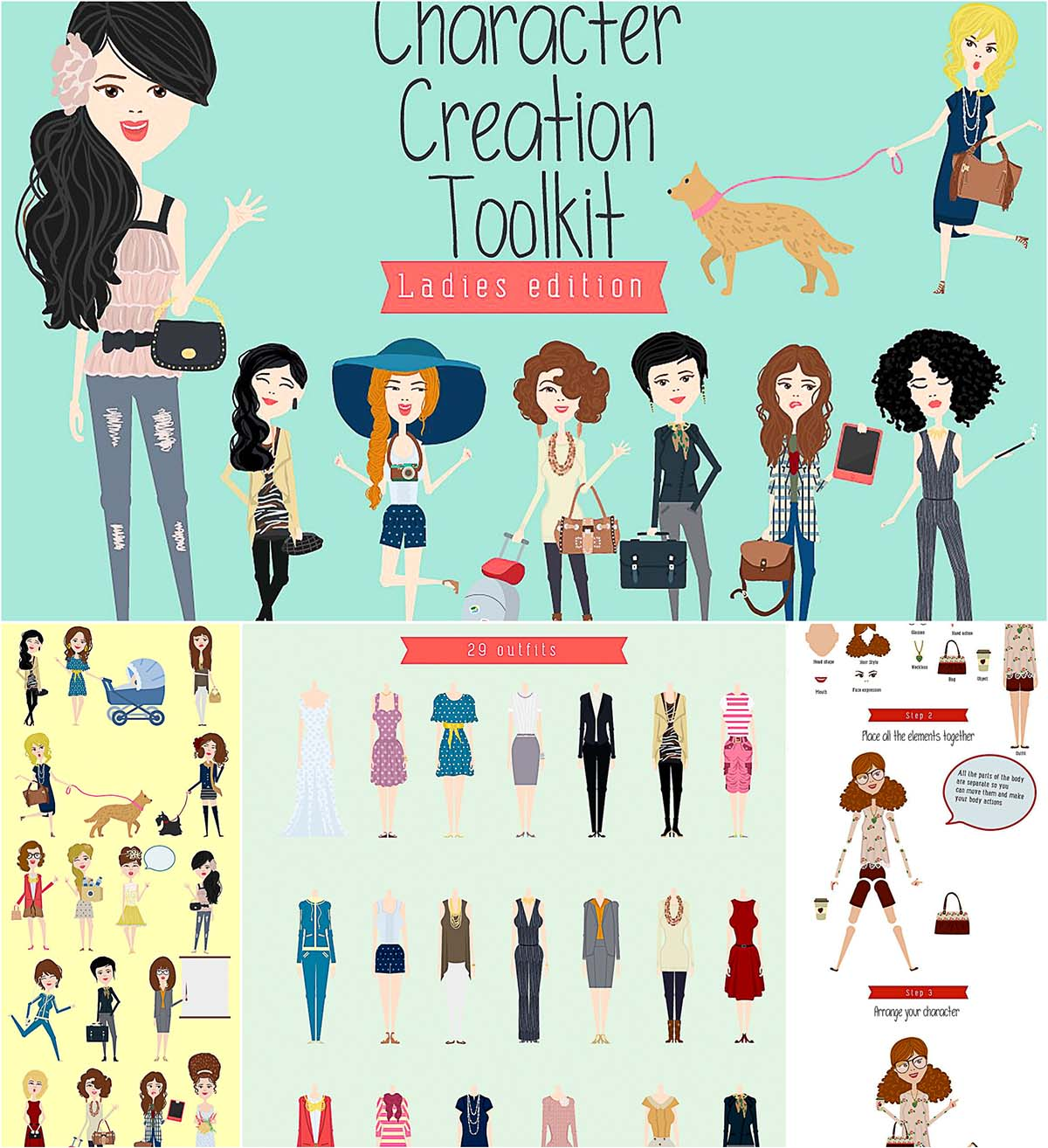 Ladies character creation kit