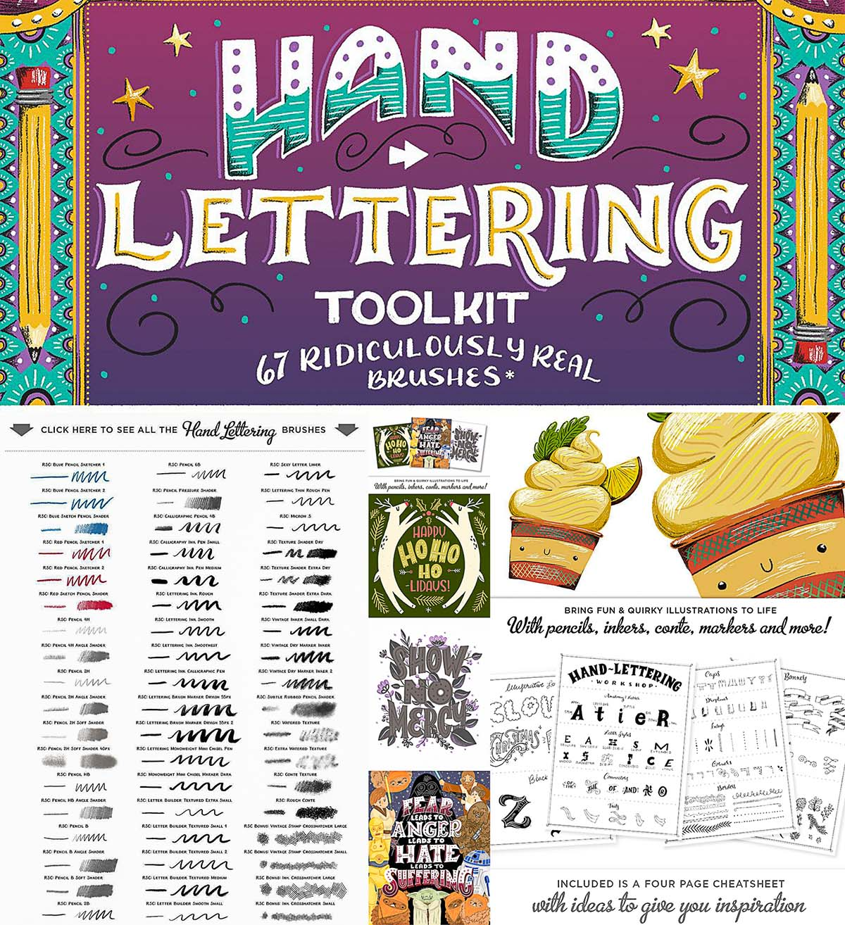 Hand lettering toolkit