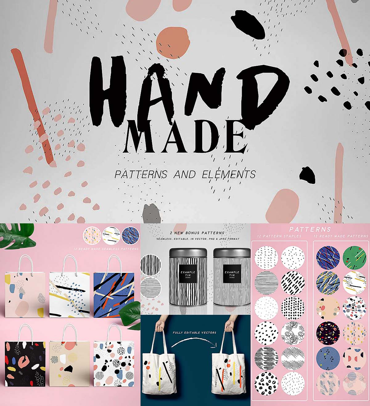 Hand made patterns and elements collection