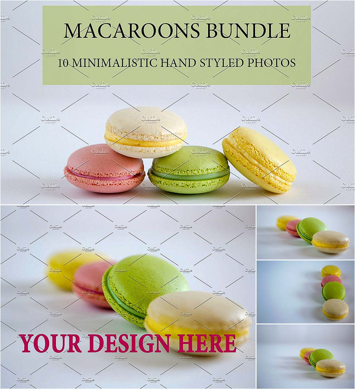 Macaroons styled photo
