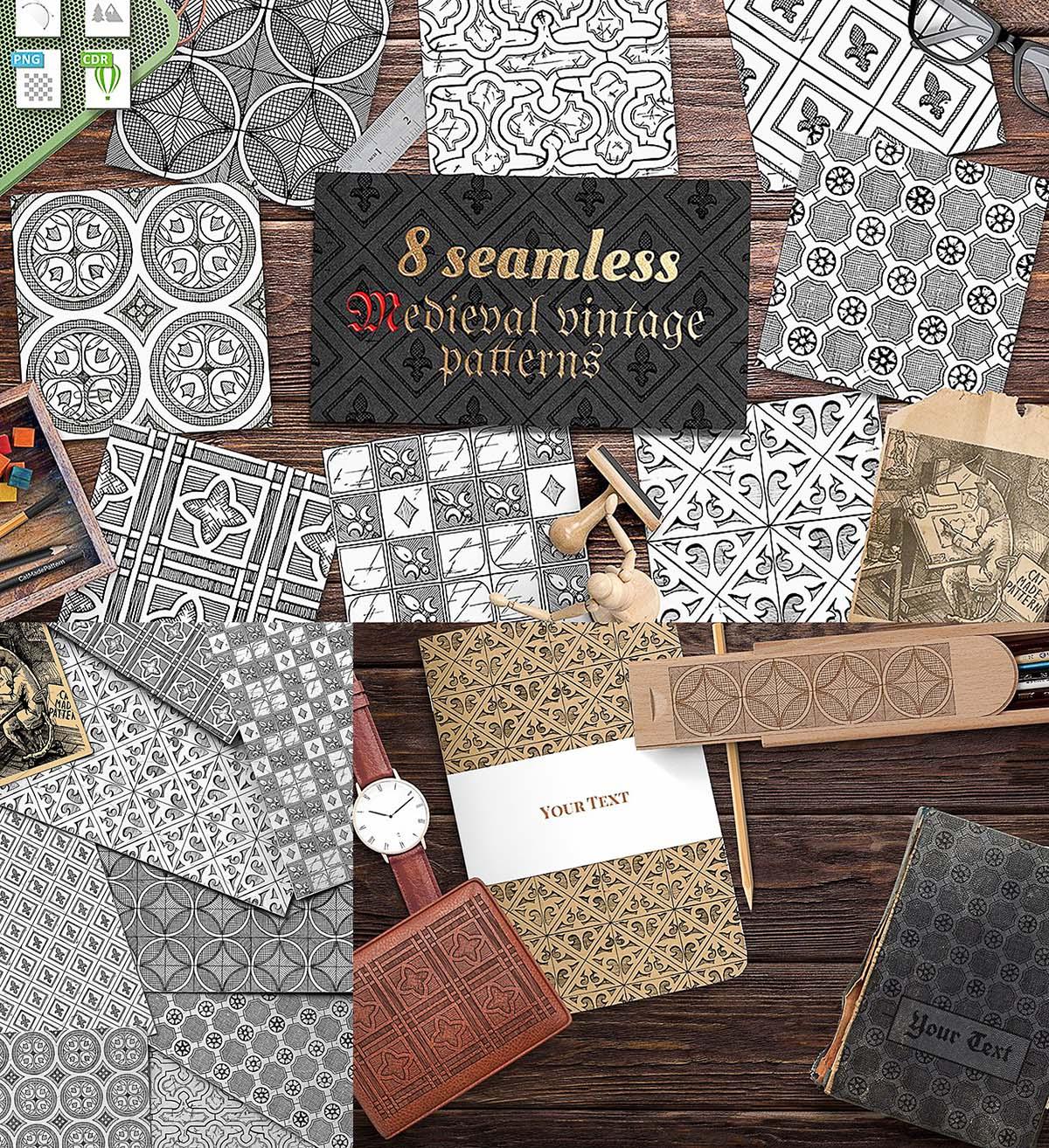Medieval patterns set