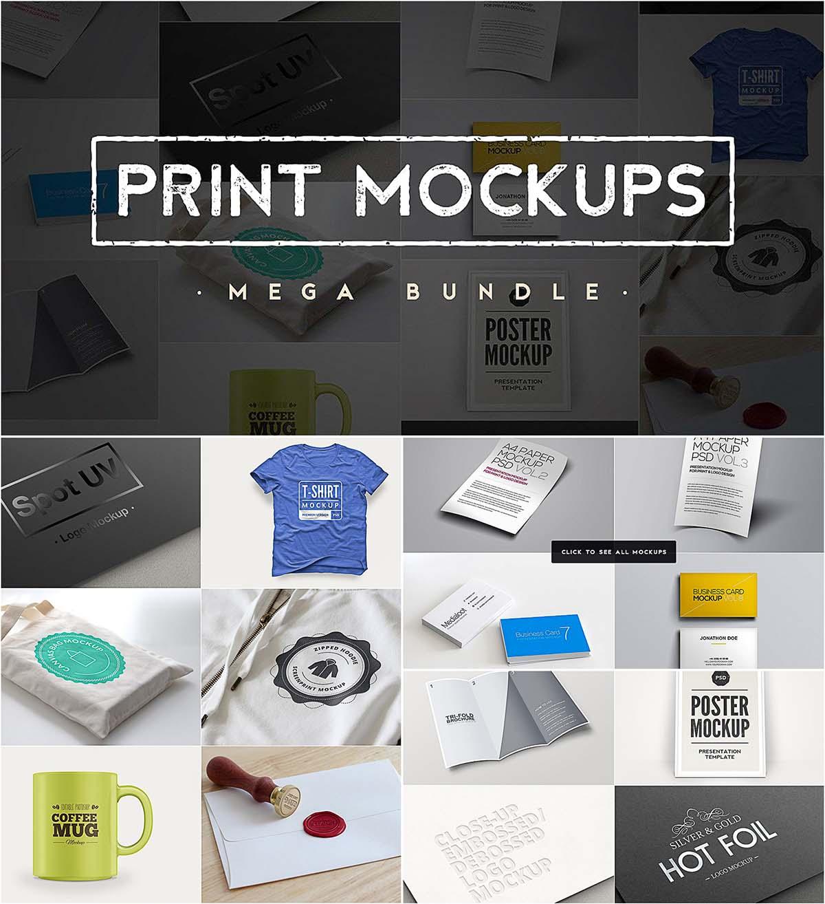 Print mockups bundle