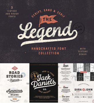 The Legend font trio + bonus