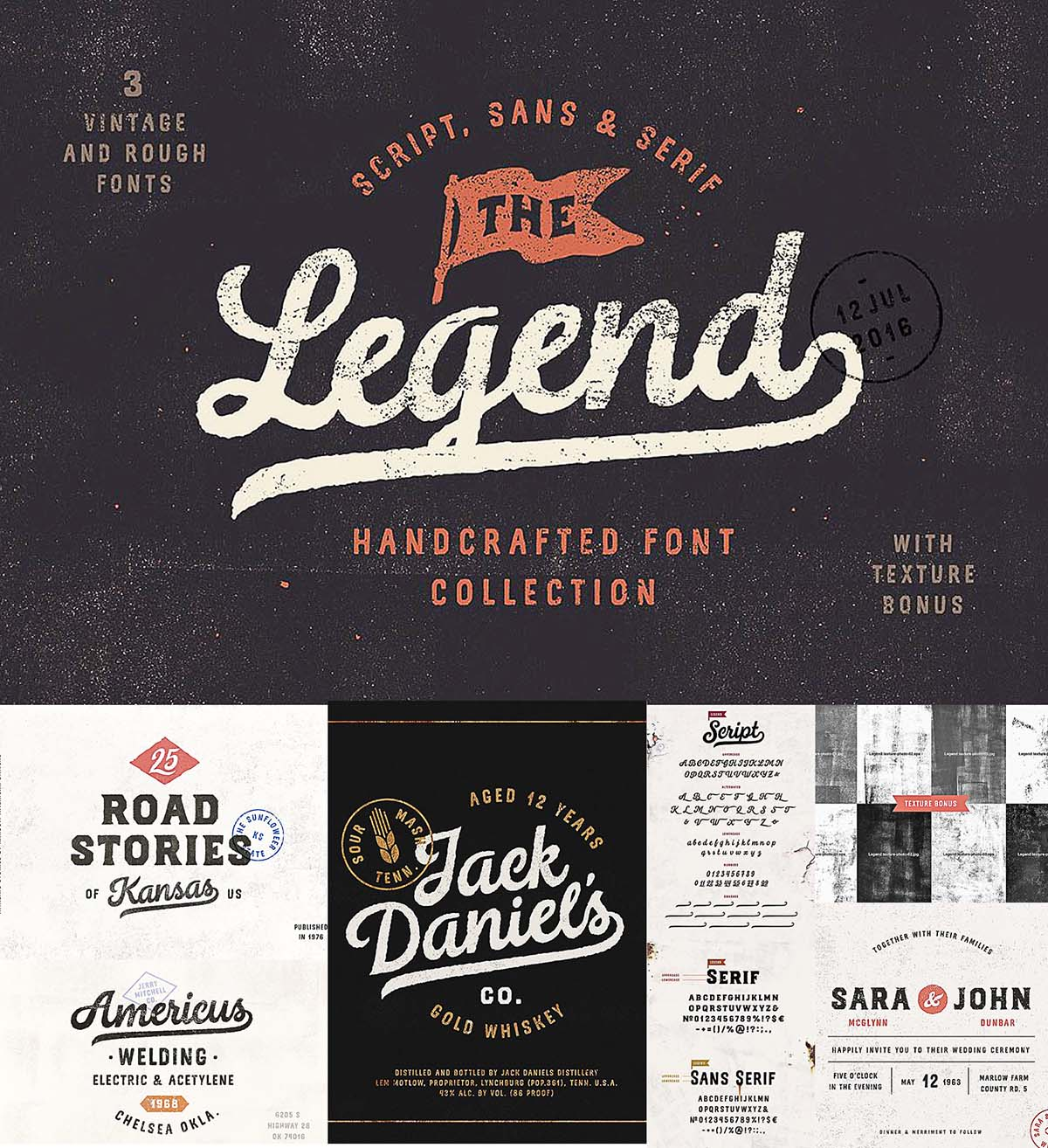 The Legend font trio + bonus