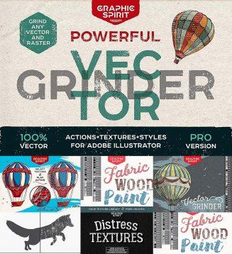 Powerful vector grinder tool