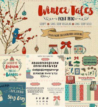 Winter tales fonts