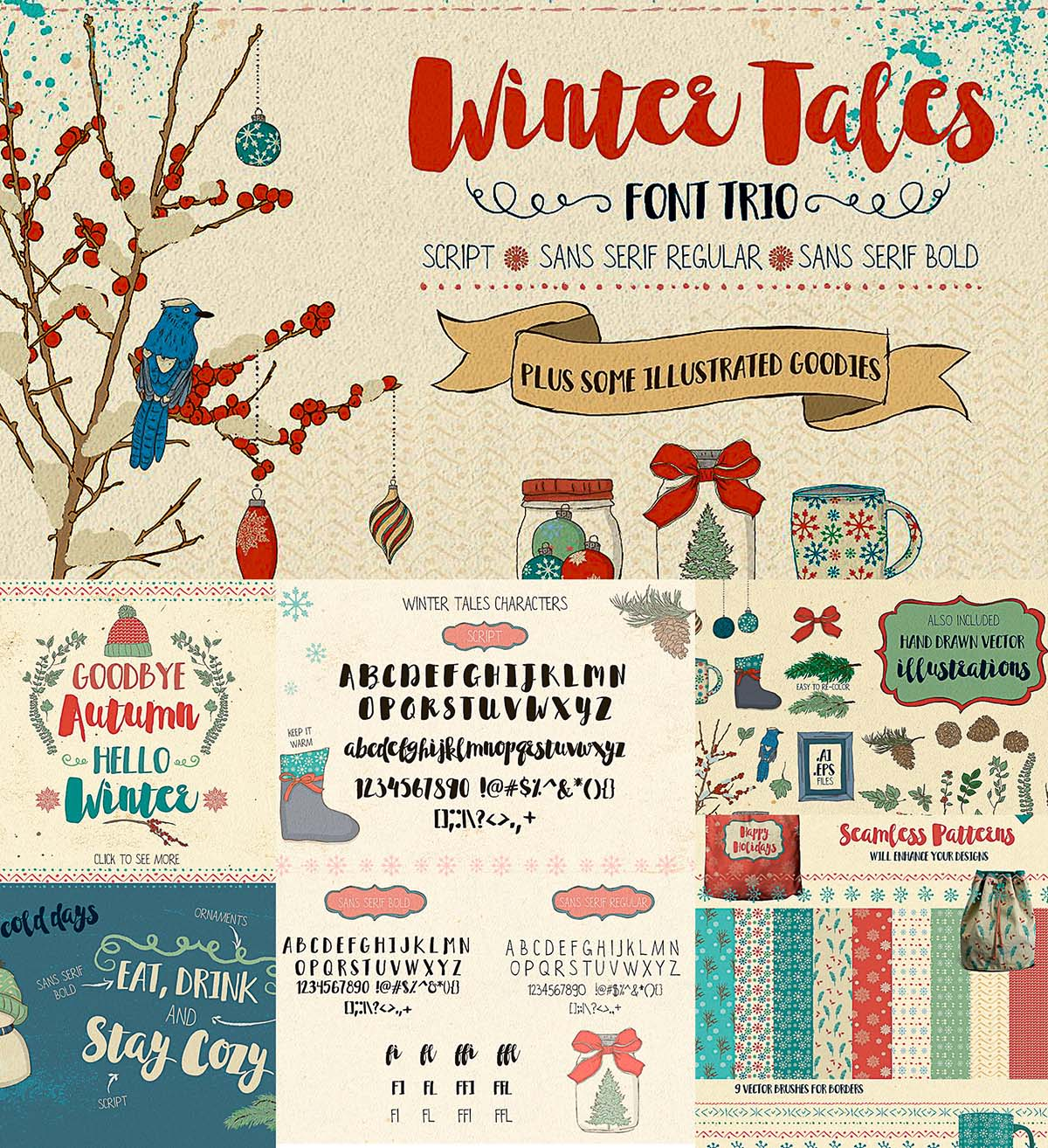 Winter tales fonts