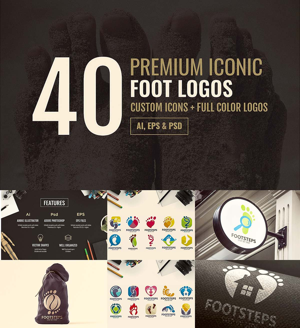 40 foot logo set