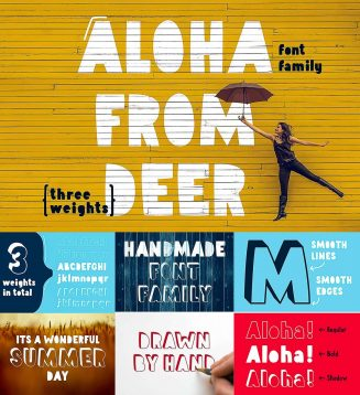 Aloha from deer font family