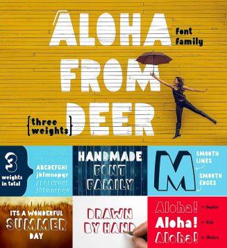 Aloha from deer font family