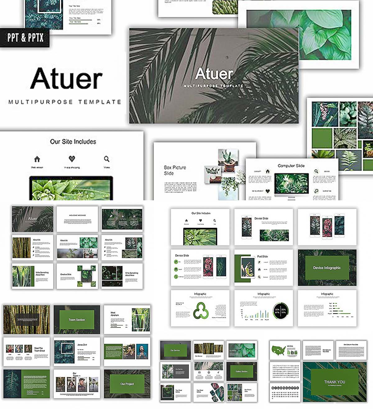 Atuer powerpoint presentation template