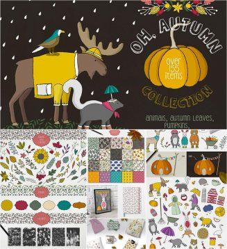 Autumn illustrations collection