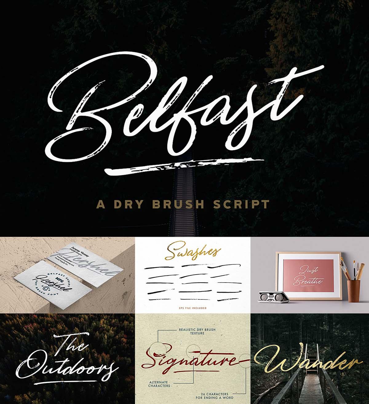 Belfast brush script