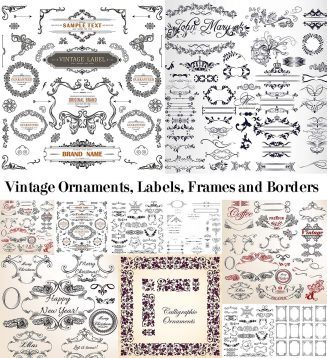 Vintage decorative elements bundle