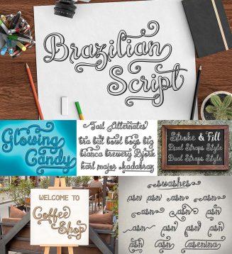 Brazilian script 3d