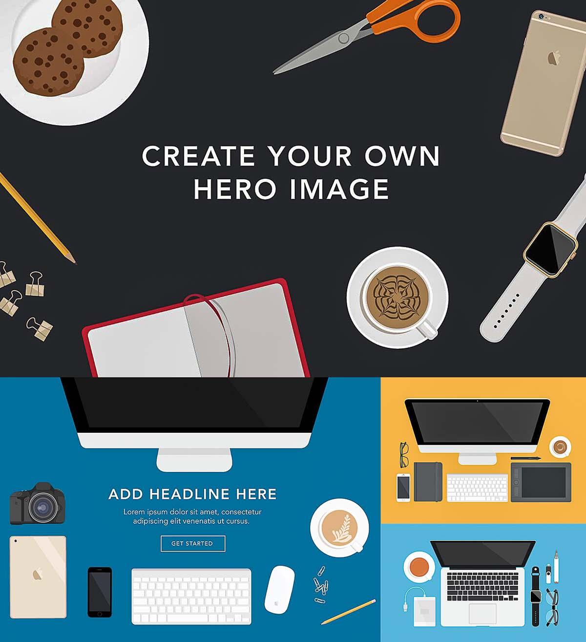 Desk scene creator hero image