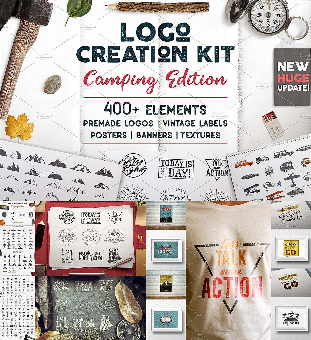Logo creation kit camping