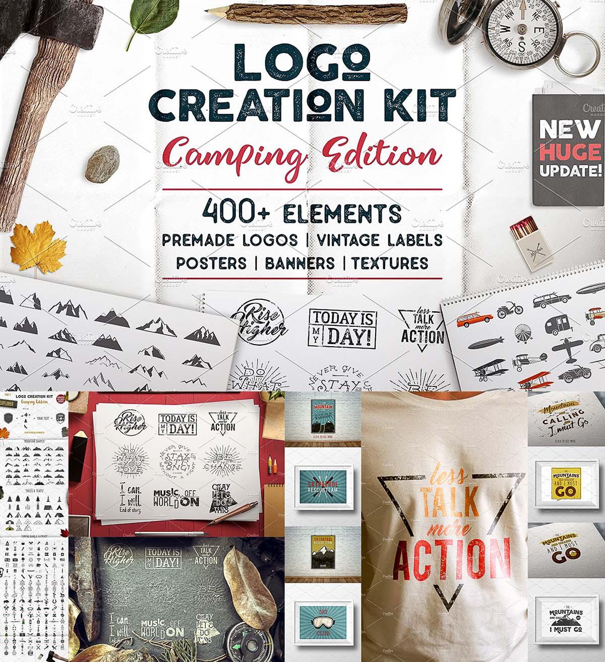 Logo creation kit camping