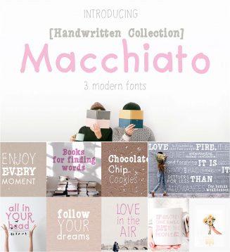 Macchiato font set