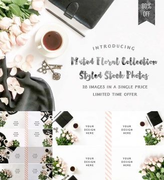 Faded floral styled photos