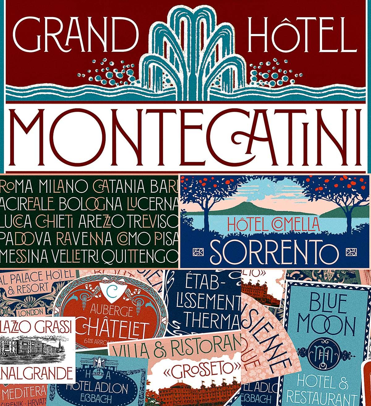Montecatini retro font