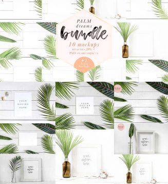 Palm clean mockup bundle