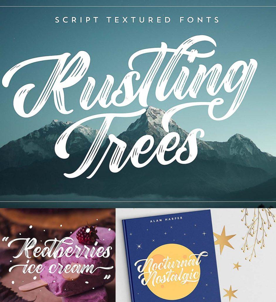 rustling trees font