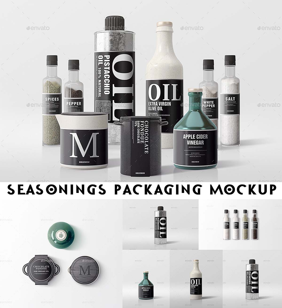 Seasonings branding mockup set